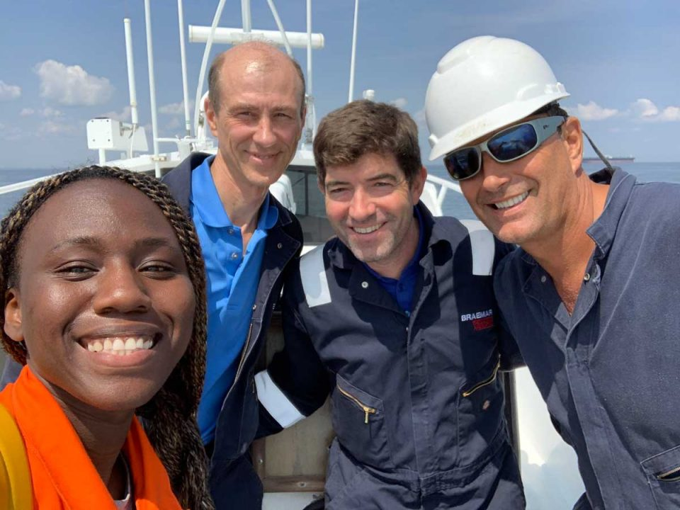 Ashanti with fellow AqualisBraemar surveyors